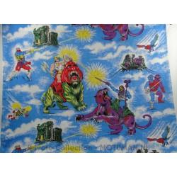 Gordijn Stof BA He-man vs BA Skeletor, Mattel 1983