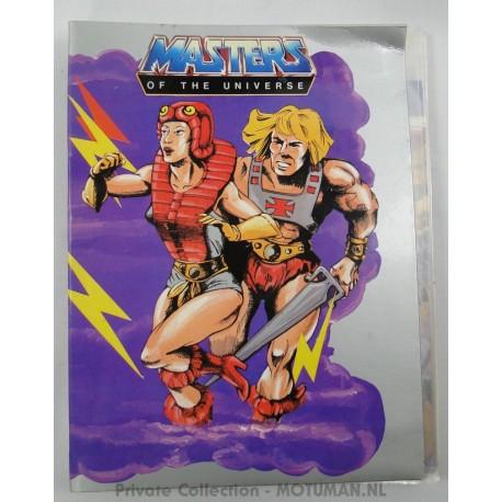 He-man A4 2-ring binder, Mattel 1986