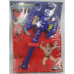 purple Axe Skeletor MIP ref 501, Delavennat 1984
