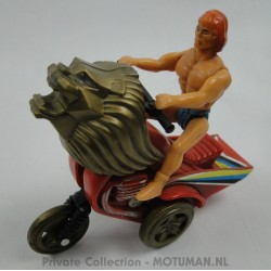 Knock-Off Friction He-man Like Man on cat Motor