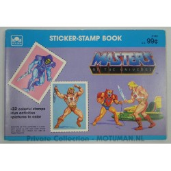 Sticker-Stamp Book - 32 colorful stamps - Golden 1983