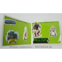 MOTU Puffy Stickers - Sticker album, pocket size - Mattel 1983