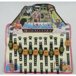 Heman/Skeletor (6/6) carnival watches on display, Mattel 1985