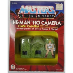 He-man 110 Camera MIB and loose, HG Toys 1985