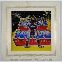 "Glazen litho ""Skeletor"", Carnival Glass"