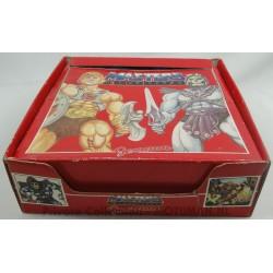 Display box with Sunglasses, 14x he-man/blauw & 6x Skeletor/rood, Josman 1984 Spain