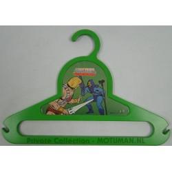 Green He-man & Skeletor Clothes Hanger, Mattel 1984