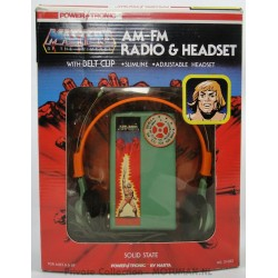 AM-FM Radio & Headset MIB, Power Tronic 1984